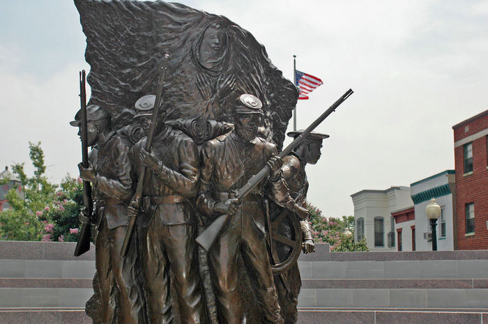 The African American Civil War Memorial is located in the Shaw neighborhood. It's placement is fitting because of Shaw's vibrant African American history. [1]